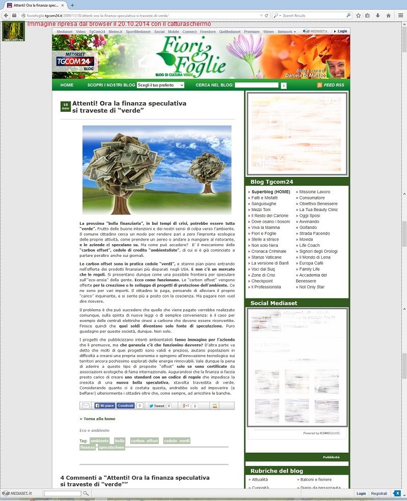 Cesec-CondiVivere 2014.10.20 Attenti alla finanza sostenibile