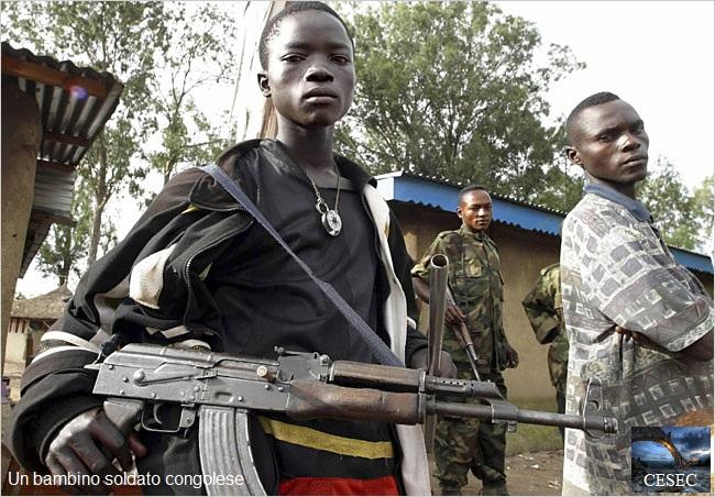 Cesec - Congo bambino soldato