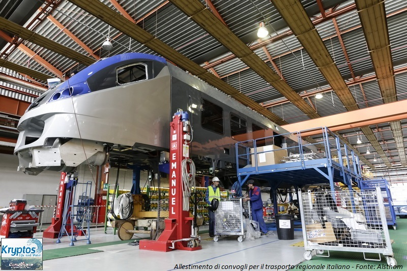 ALSTOM TRANSPORT CORADIA MERIDIAN FITTING IN SAVIGLIANI , ITALY