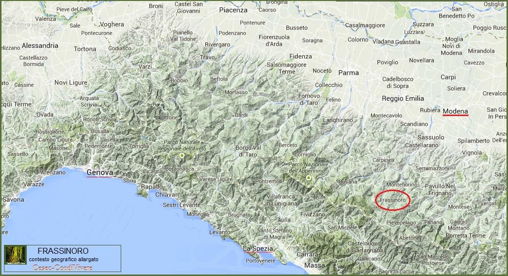 Cesec-CondiVivere 2014.10.17 Frassinoro mappa